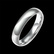 Men and women 316L simple glossy titanium steel ring size 7 #002
