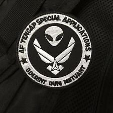 USAF AREA 51 BLACK OPS TENCAP SPECIAL APPLICATIONS NRO CLASSIFIED PROJECTS Patch