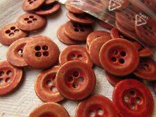 lot 15 boutons rouge doré en métal couture mercerie diamètre: 1,5 cm ref 1008