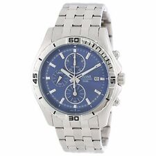 Pulsar Men's PF8397 Silver Tone 50M Stainless Steel Chronograph Blue Dial Watch
