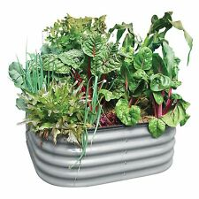 Birdies ZINC CORRUGATED RAISED GARDEN BED For Small Space, 900x900x400mm