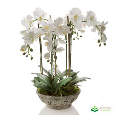 Artificial Fake Plants White Orchids in Round Pot 65cm