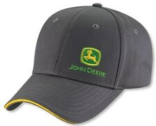 NEW John Deere Charcoal Gray Twill Cap Drivers Side Logo Hat LP49290