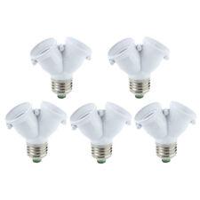 S6 5 x Adaptador doble bombillas lampara LED en mismo casquillo E27