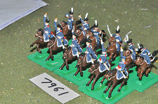 20mm napoleonic prussian dragoons 12 cavalry plastic (7961) painted