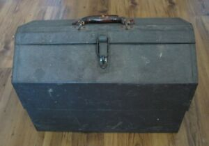 """Vintage Kennedy Kits Steel Machinists Cantilever Tool Box 18"""" x 12.5"""" x 10"""" USA"""