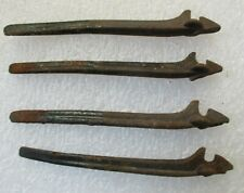 """lot of 4 ANTIQUE IRON EXTERIOR WINDOW SHUTTER CATCHES HARDWARE 4"""""""