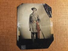Alabama Soldier leaning on sword Historical tintype C1275RP