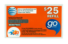 AT&T Go phone $25 Refill PIN - Physical Refill card Top Up 90 Day US Seller ATT