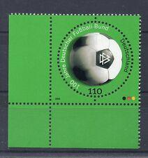 Bund Mi-Nr 2091  Ecke 3 (110) -100 J.Deutscher Fussballbund- ** Postfrisch 2000