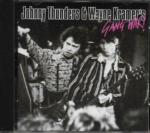 JOHNNY THUNDERS & WAYNE KRAMER - Gang War VG COND CD MC5/New York Dolls