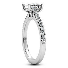 1 CT Diamond Engagement Ring Princess Cut G/VS 14K White Gold Enhanced