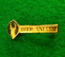 Vintage Deer Valley Utah Souvenir Enamel Pinback Ski Resort Area Pin