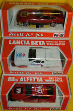 POLISTIL ALFA ROMEO ALFETTA DELTA FERRARI 365 LANCIA BETA MONTECARLO DECALS 1.41