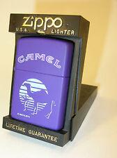 MIBWT ZIPPO LIGHTER .. PURPLE w/ OASIS/PALM/CAMEL