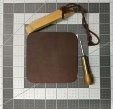 "Hand made Premium Leather Square Coasters 4"" ( Set of 4)"