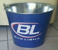 BUD LIGHT ICE BUCKET 23cm Diameter Party Drink Budweiser BEER Bottle Holder Pail