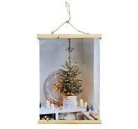 LED Leinwandbild Kaminfeuer beleuchtend Dekoration Bild Weihnachten 30x30 15482