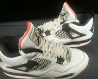 Nike Air Jordan 4 Retro Pale Citron Bright Crimson 308497-116 Size 10.5