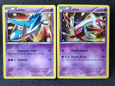XY Pokemon Cards LATIOS 30/30 & LATIAS 30/30 - 2015 TRAINER KIT HOLO PROMOS