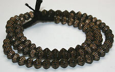 Beach 64 cm Bicone bohemian spindle whorls beads gold
