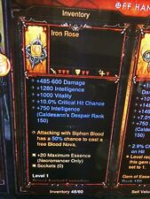 DIABLO 3 PRIMAL ANCIENT IRON ROSE NECROMANCER PHYLACTERY PATCH 2.6 XBOX ONE