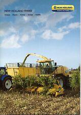 Prospectus, brochure tracteur batteuse New Holland ensileuse FR 9000