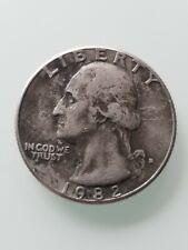 1982 D Washington QUARTER Black Beauty error coin + filled D mint mark NICE!