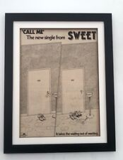 The SWEET Call Me 1979*ORIGINAL*POSTER*AD*FRAMED*FAST WORLD SHIP