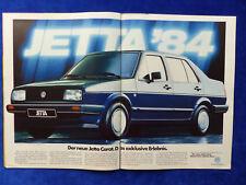 VW Jetta Carat - Werbeanzeige Reklame Advertisement 1984 __ (370