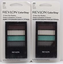 2PK.REVLON COLORSTAY 12 HOUR EYE SHADOW 380 SILVER FOX 0.16 OZ SEALED