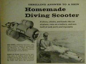 Divers Tow Motor Scuba Scooter SeaScooter How-To build PLANS