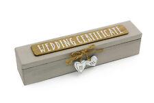 Vintage Style Wooden Wedding Certificate Holder WG715