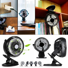 Clip-on Table Fan Strong Airflow USB Powered Cooling Quiet Home Office Desk New