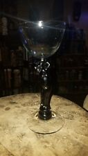 Imperial glass Polynesian Trader Vic's black stem lady cocktail glass tiki mug