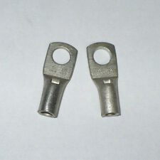 """Unknown Manufacturer One Hole Compression Lug, YA-AN8 N23, 1/4"""", Lot of 2 , New"""