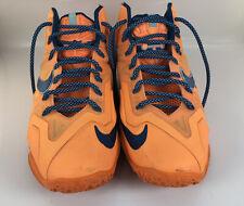 Nike LeBron Size 11 XI Miami's Atomic Orange Flywire 616175 800