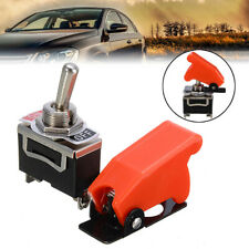 1 Set Heavy Duty Toggle Switch Flick ON/OFF/ON Car Dash 12V DPDT w/Missile Cover