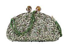 Edidi Bag Clutch Diamante and Jade Beads Exquisite Evening Bag NWT
