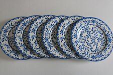 Better Homes & Gardens Lisben Set of 6 Melamine Blue & White Dinner Plates