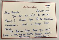 FIRST LADY BARBARA BUSH HAND WRITTEN SIGNED NOTE CARD HER STATIONARY PSA/DNA