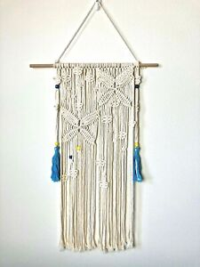 Macrame Wall Hanging Medium Size Approx 23.6 x 35 in. Boho Chic Wall Decoration