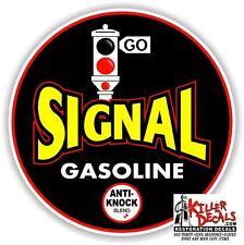 "(SIG-1) 24"" ROUND SIGNAL GASOLINE ANTI KNOCK GAS PUMP OIL TANK  DECAL"