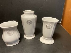 Southern Living At Home Set of 3 Petite Bud Vases #41054 Off-White/Gray Design