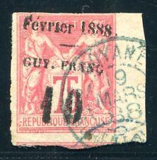GUYANE 1886 Yvert 9 gestempelt signiert BRUN SELTEN 320€(S5367