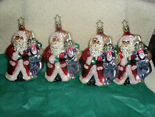 4~ Inge Glass Ornaments Believing In Each Other #4176 Santa & Easter Bunny Tall