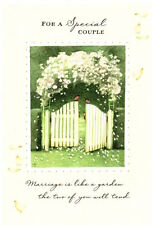 Marjolein Bastin Congratulations Wedding Garden Gate Hallmark Greeting Card