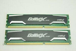 2X2GB 4GB Crucial Ballistix Sport RAM 1600MHz