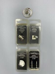 Williamsburg Pewter 1/12 Scale Miniature Dollhouse Items - Lot of 7
