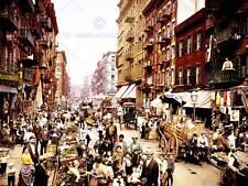 Vintage Foto Mulberry Street NYC tintados nueva imagen de póster de impresión de arte CC5331